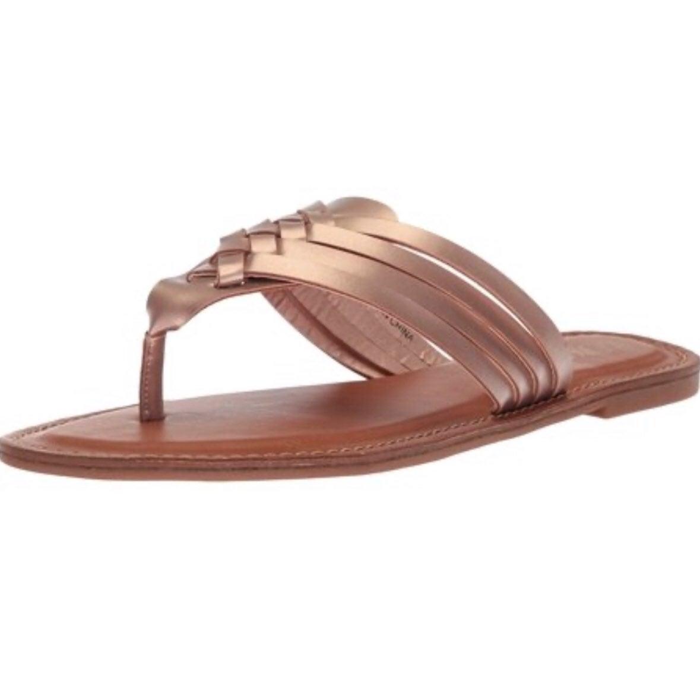 EUC XOXO rose gold strappy sandals 9