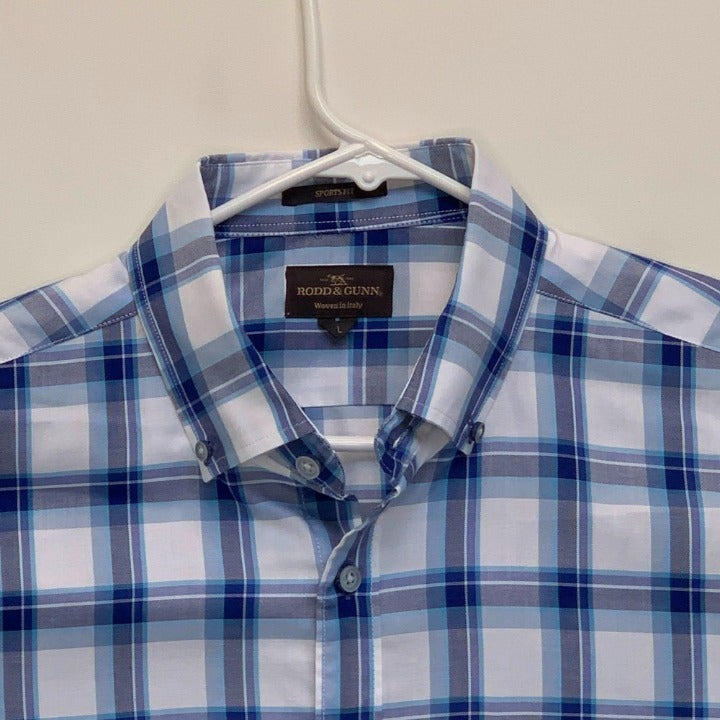 Rodd & Gunn Checked Shirt White Large