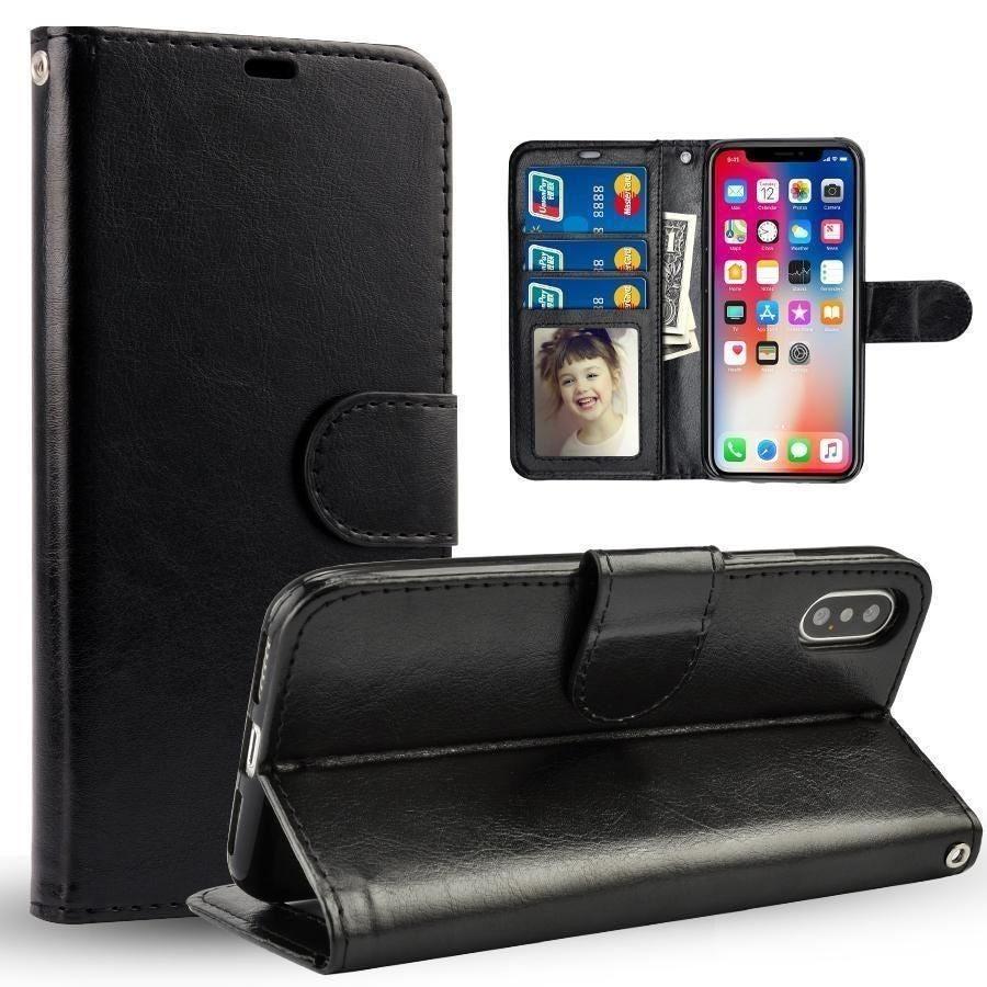 iPhone 12 Wallet Case Black