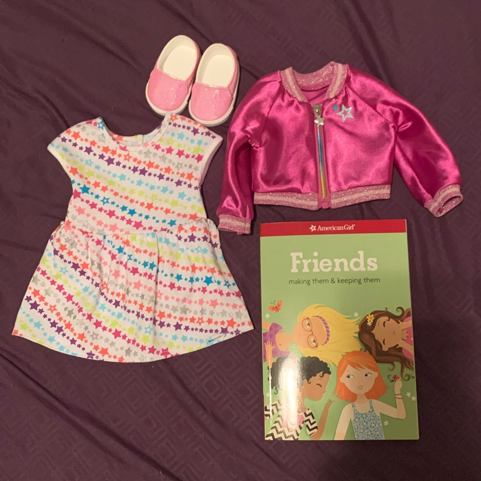 American girl truly me doll outfit &book
