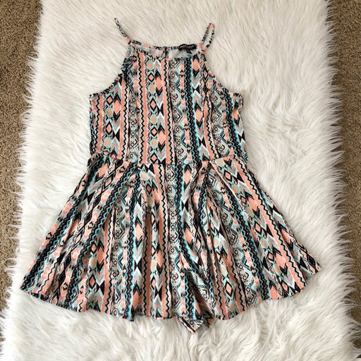 About a girl boho romper, large
