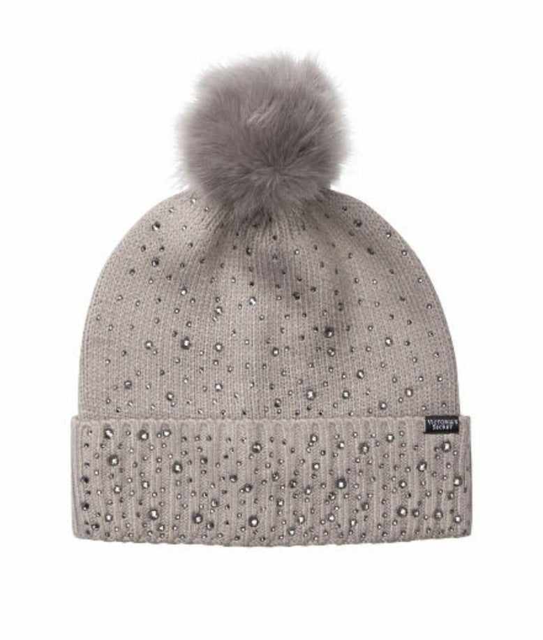 Victoria's Secret Grey Bling Beanie Hat