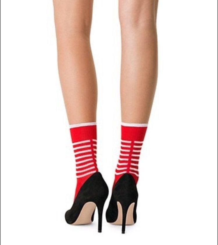 Fogal Ikena Striped Crew Socks