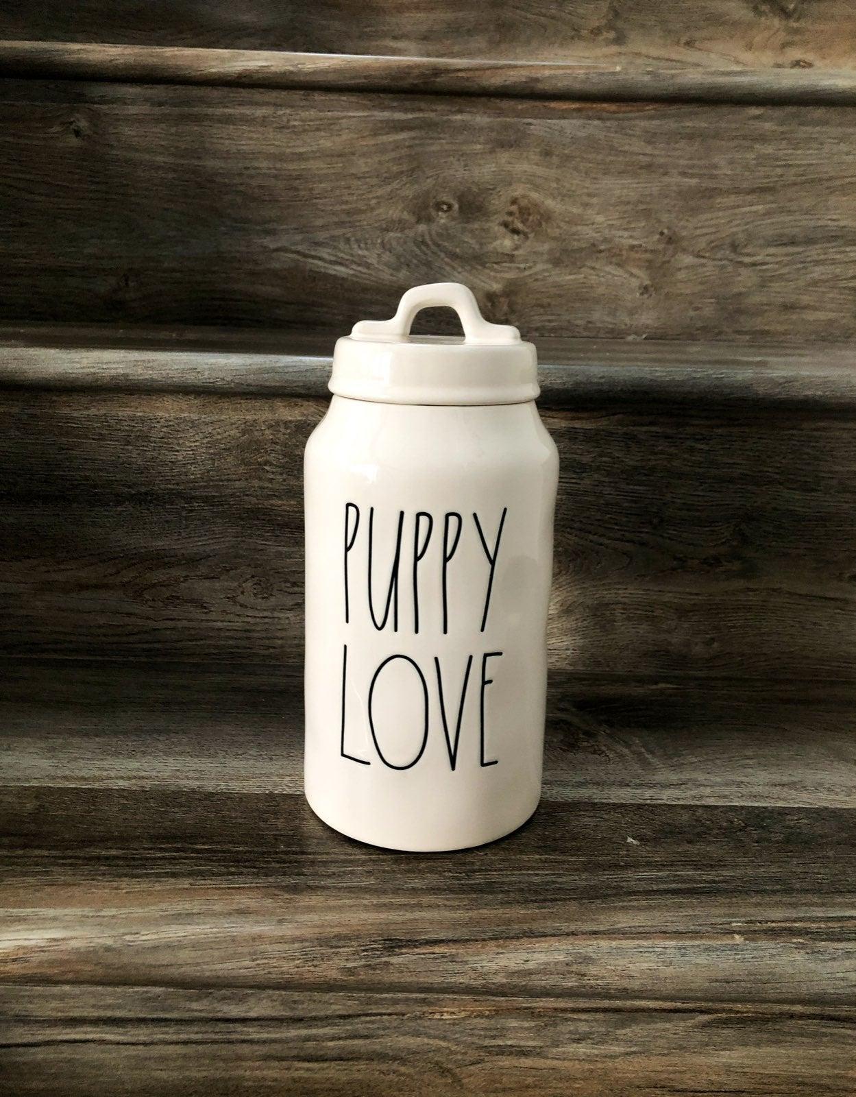 Rae Dunn Puppy Love Jar