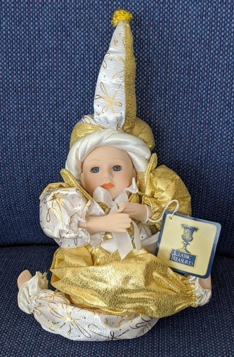 MUSICAL HARLEQUIN DOLL