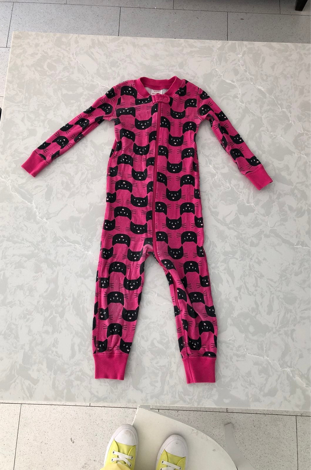 Hanna andersson pink cat pajamas 90 3t