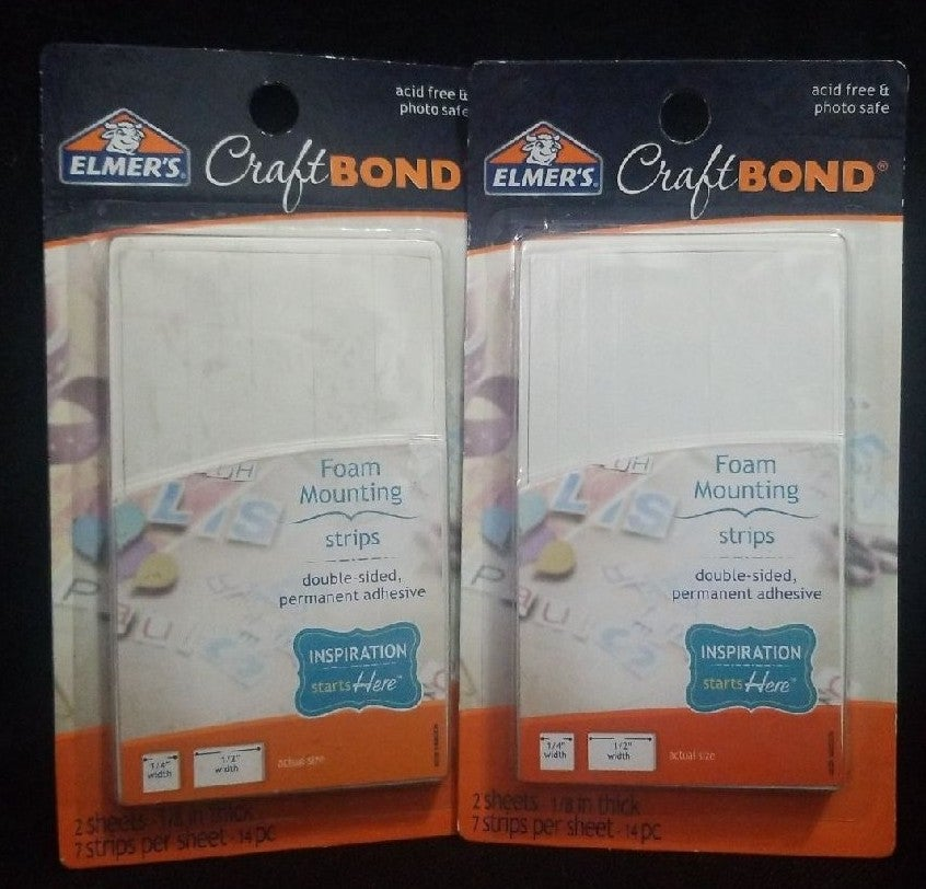 Elmers Craft Bond Foam Mounting Strips 2
