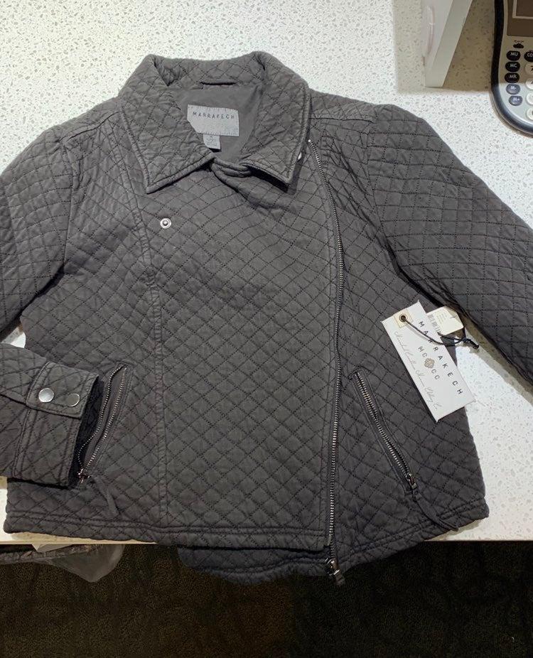 NWT Anthropolgie grey Moto Jacket by Mar