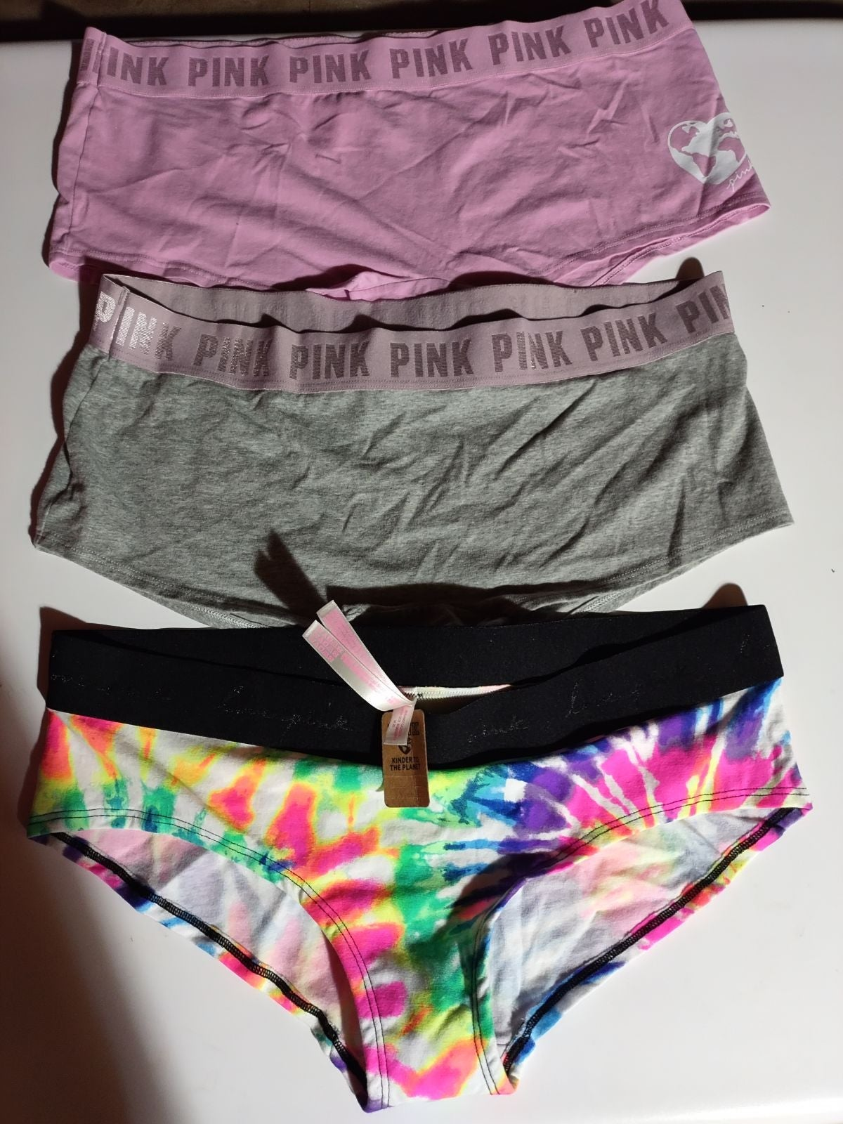 PINK boyshorts & hipster panties XL