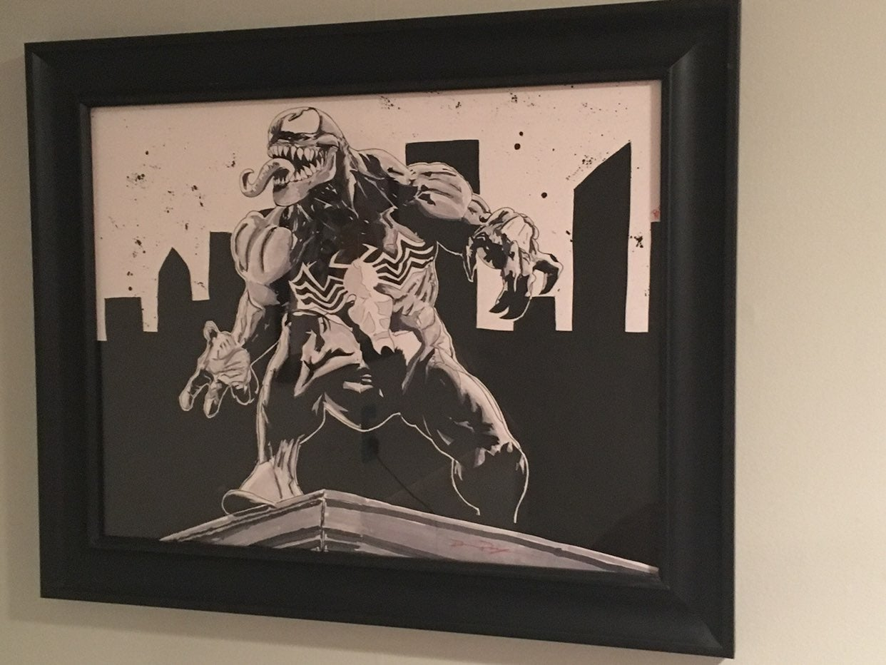 Original Venom Comic art