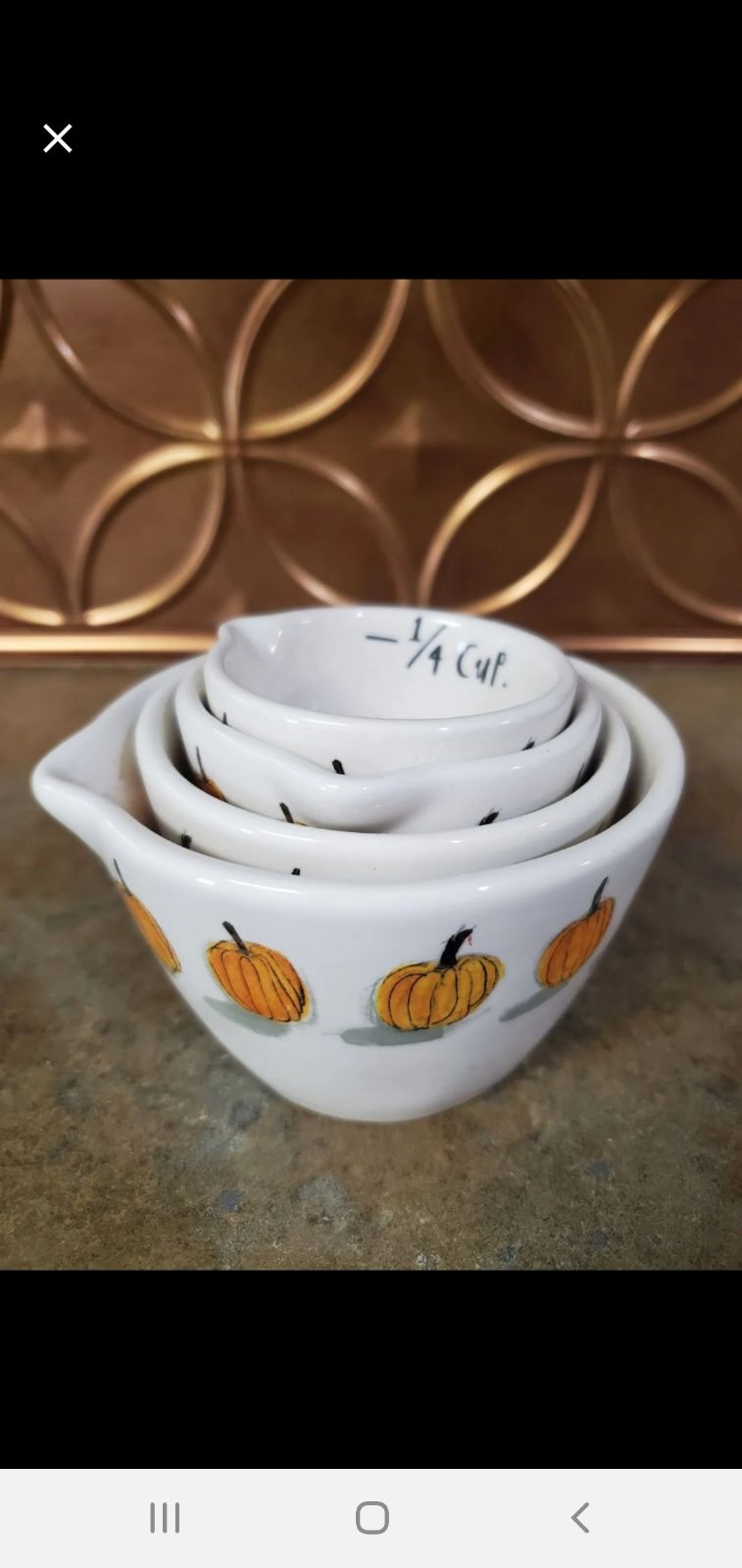 Rae dunn pumpkin measuring cups