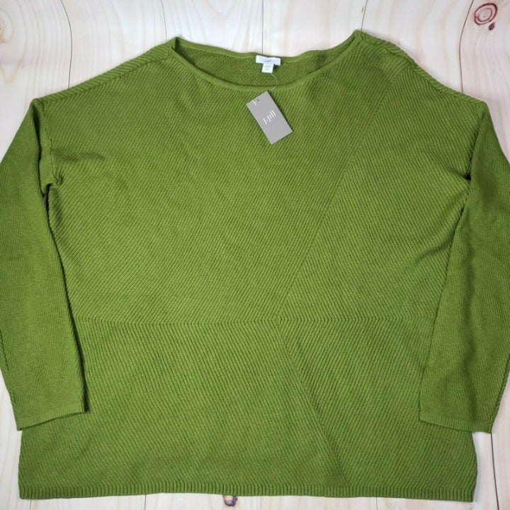 J Jill Womens Vine Pullover Sweaters XL