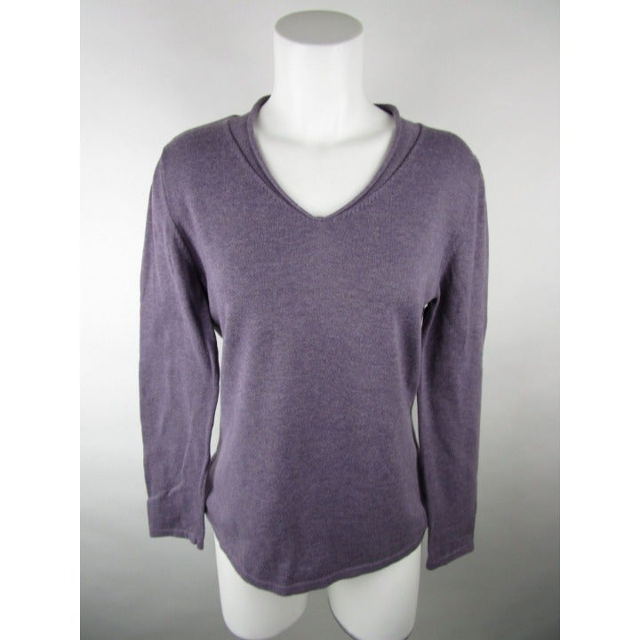 J.Jill V Neck Long Sleeves Sweater