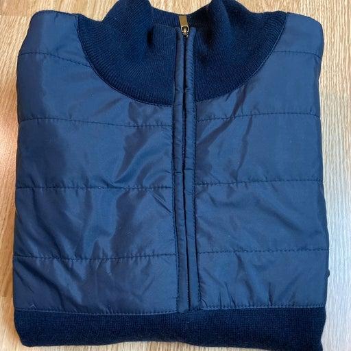 Bugatchi uomo quater zipper blues sizeS