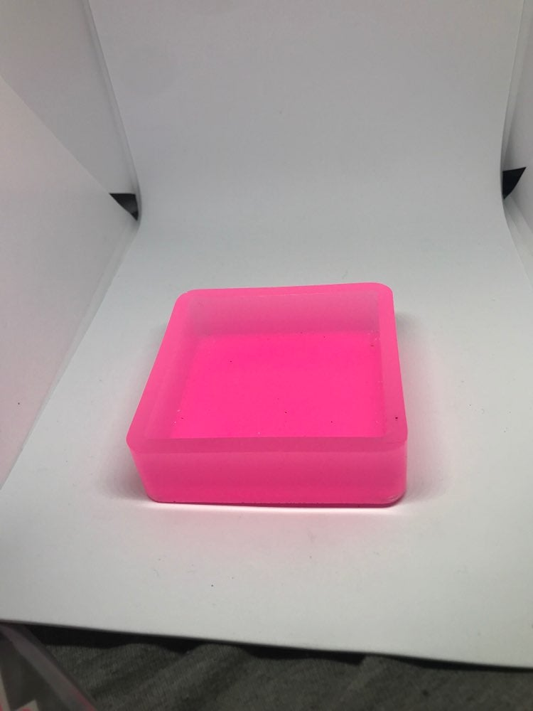 Pink glow in the dark stackable tray