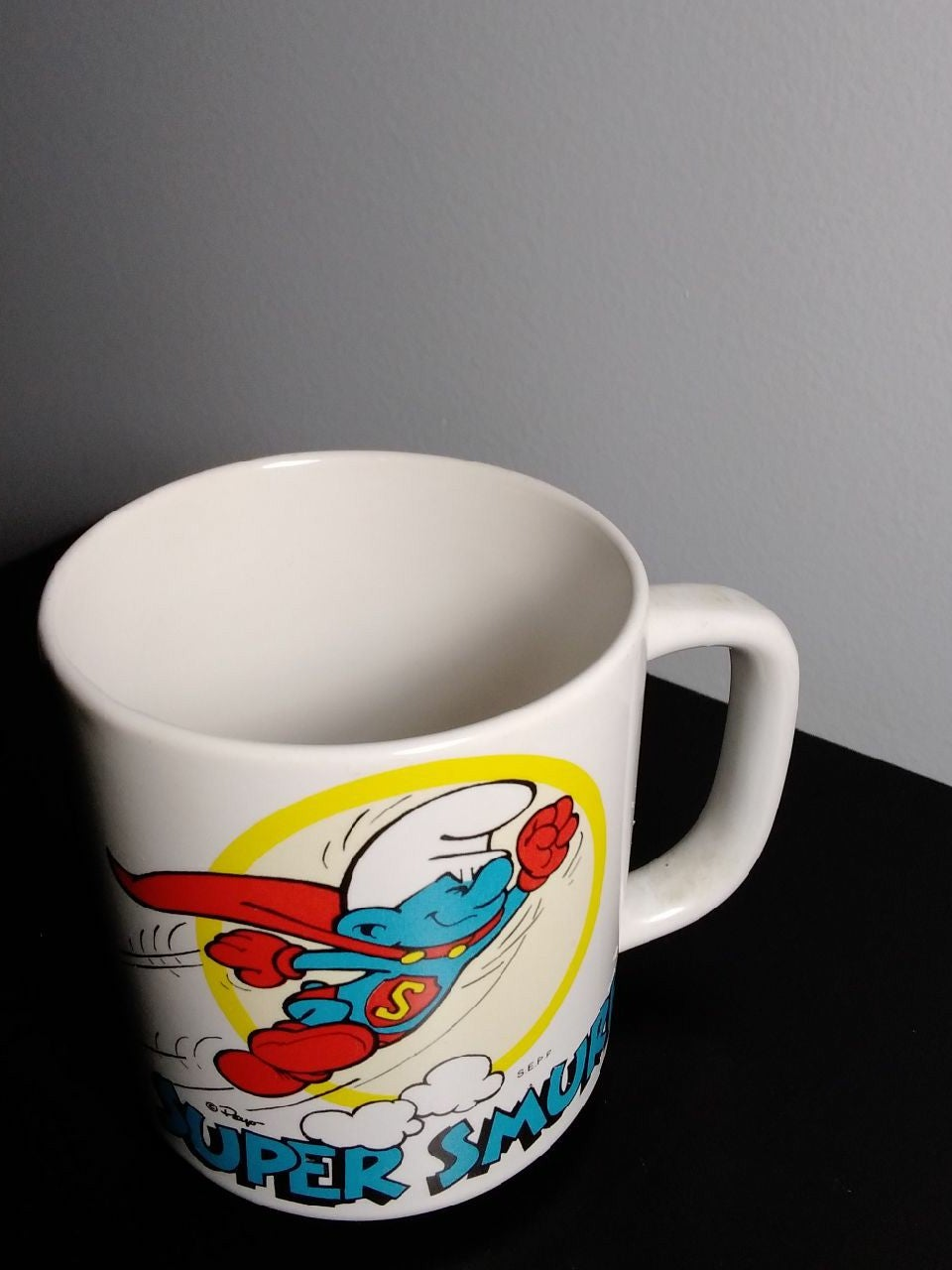 Vintage Smurf cup