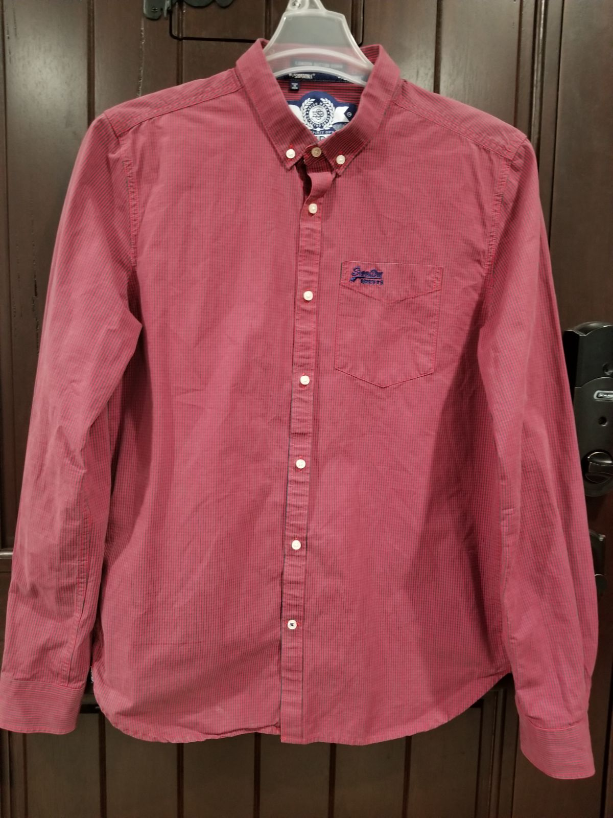 Superdry London Button Down Red Large