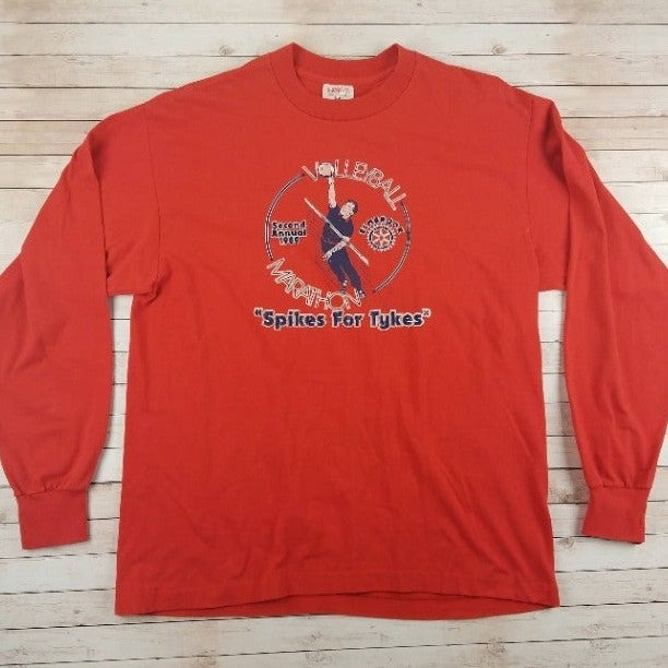 VTG 1980s Volleyball Long Sleeve Shirt