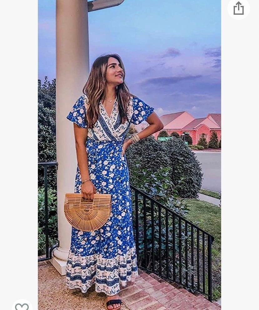 ‼️NWOT‼️ ZESICA Bohemian wrap Maxi Dress