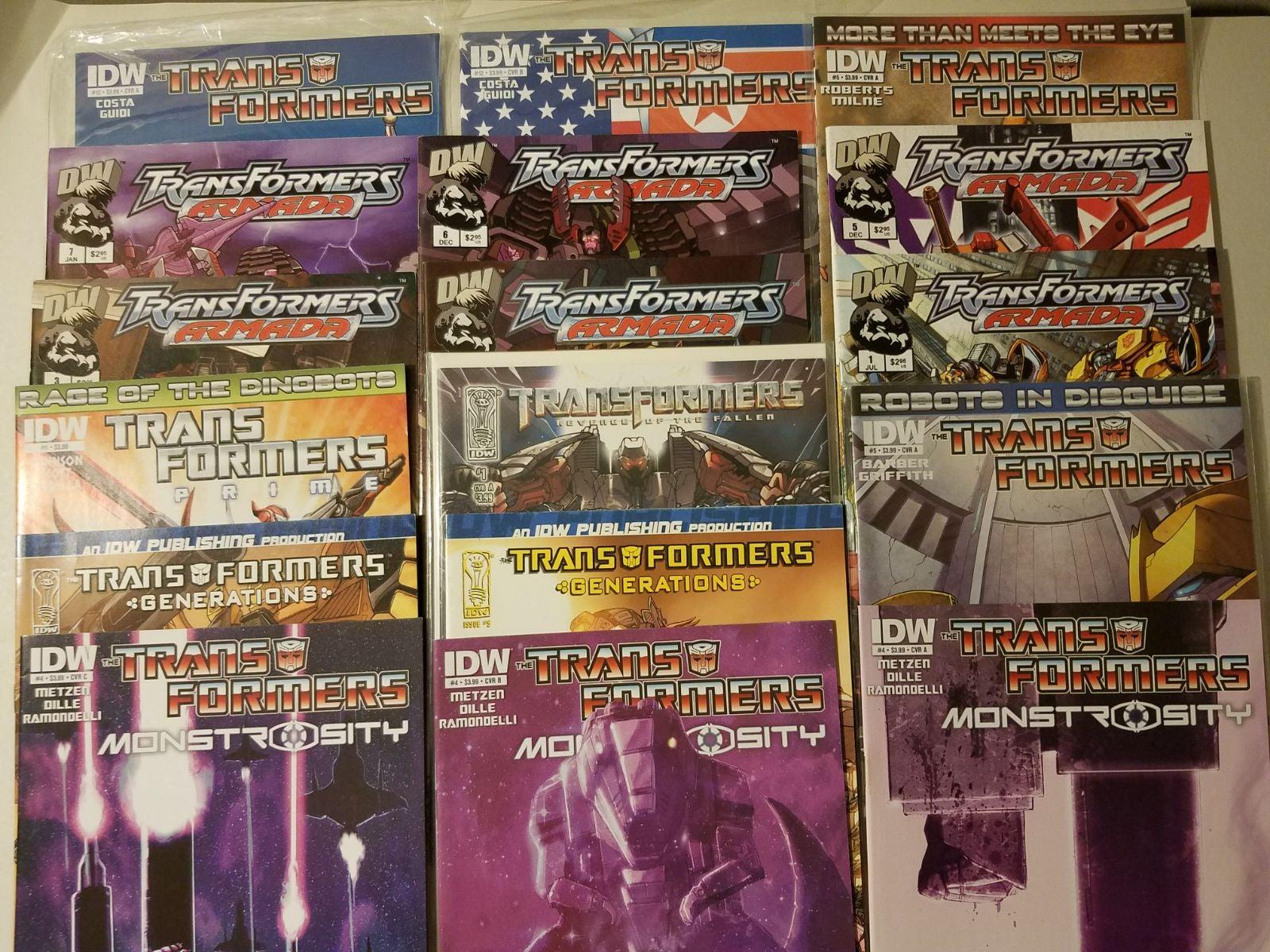 Big Transformers comic book lot