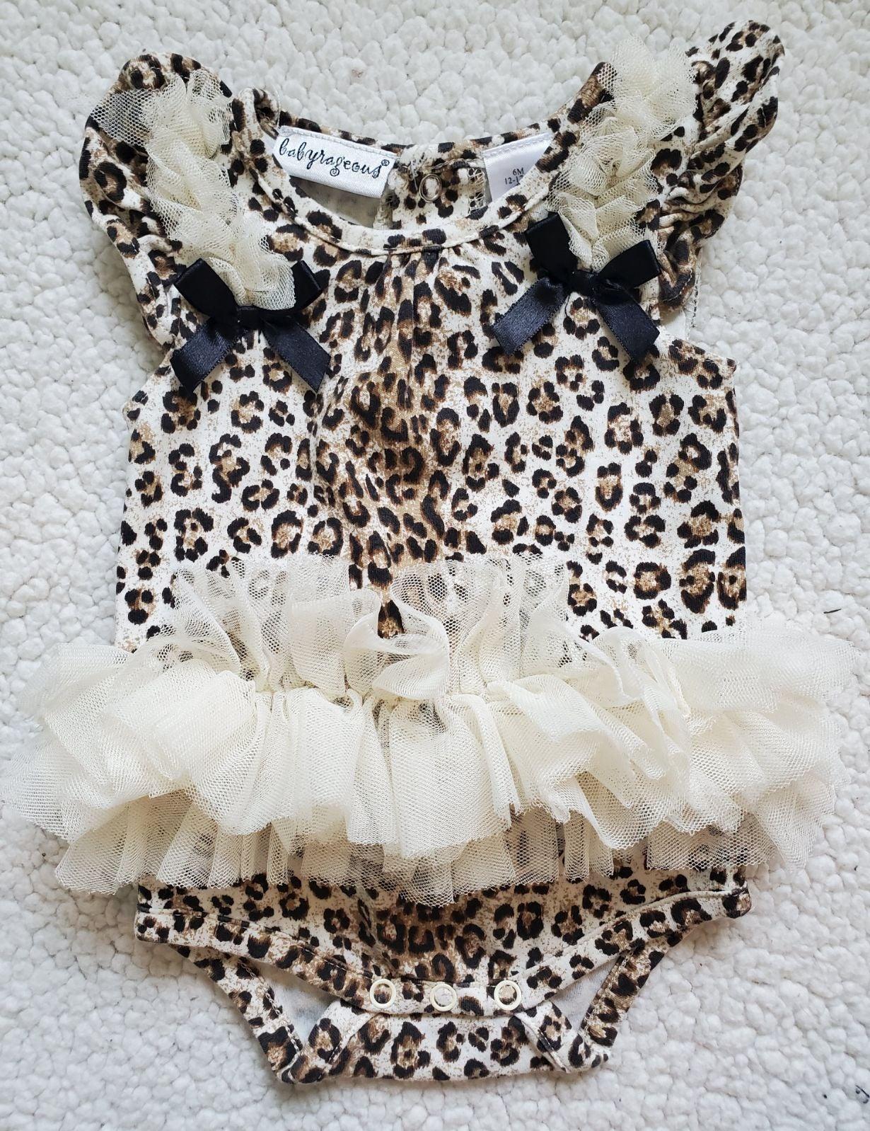 Leopard Print Baby Romper