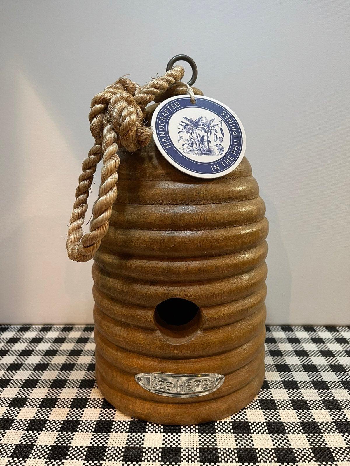 Jumbo Wood BEEHIVE BIRDHOUSE Handcrafted