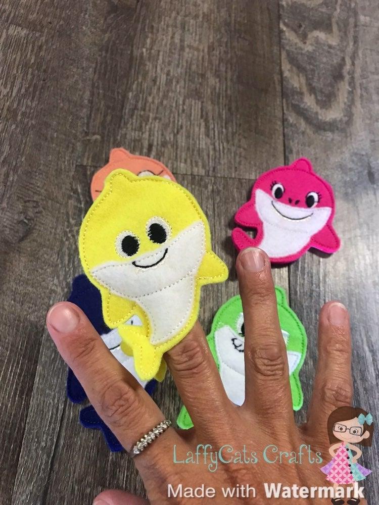 Handmade Baby Shark Finger Puppet Set