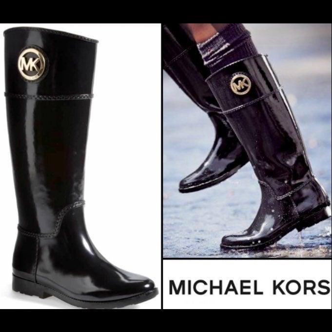 Michael Kors Stockard Logo Rain Boots 6