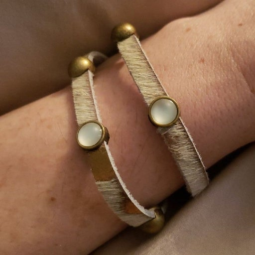 HEET wrap bracelet- leather - brass - NW