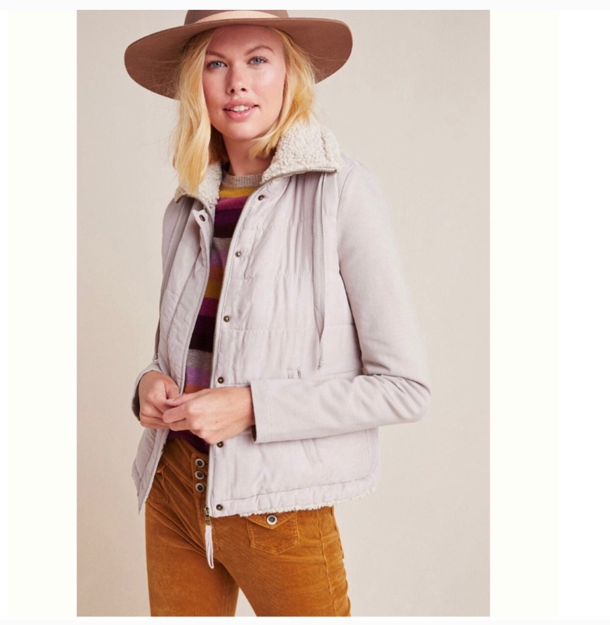 Anthropologie MARRAKECH Tia quilted Sher