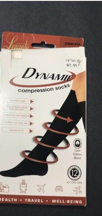White Compression Ribbed Knee High Socks