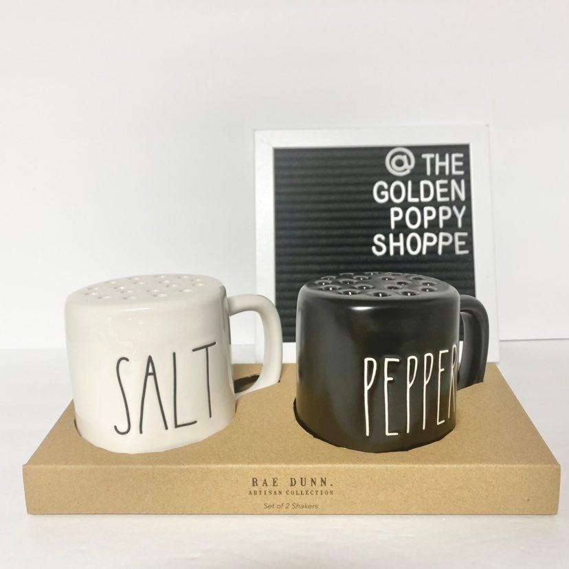 Rae Dunn Large SALT & PEPPER Shakers