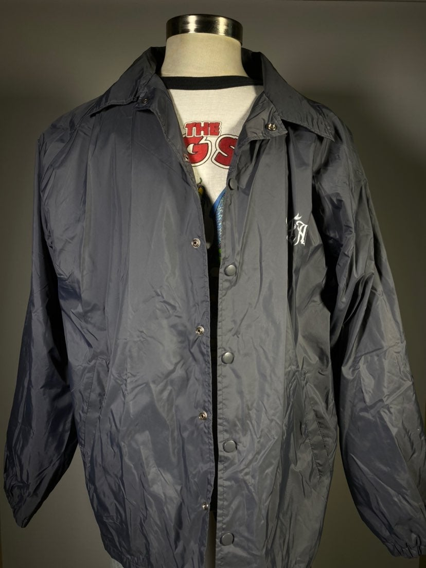 Vtg Gray No Fear Windbreaker Jacket 2XL