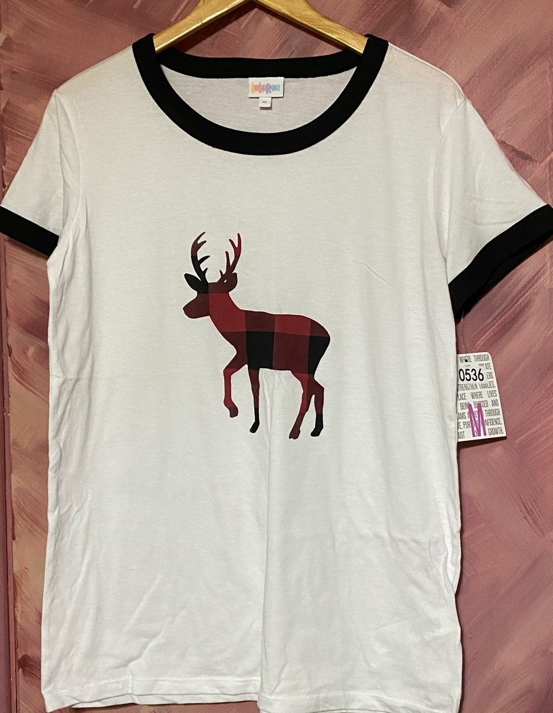 LuLaRoe White Cotton, Polyester T-shirt