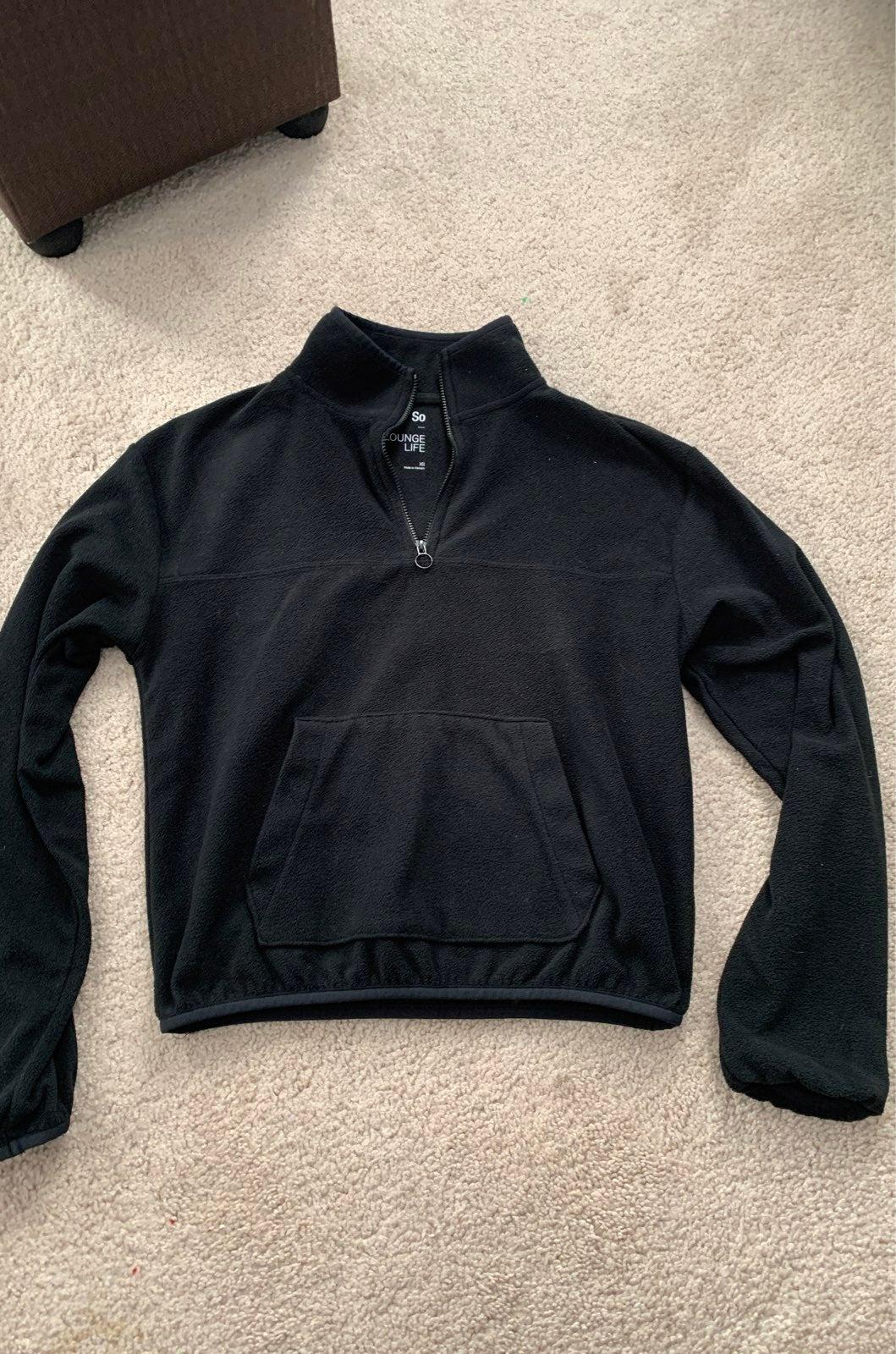 Quarter zip fleece sweater