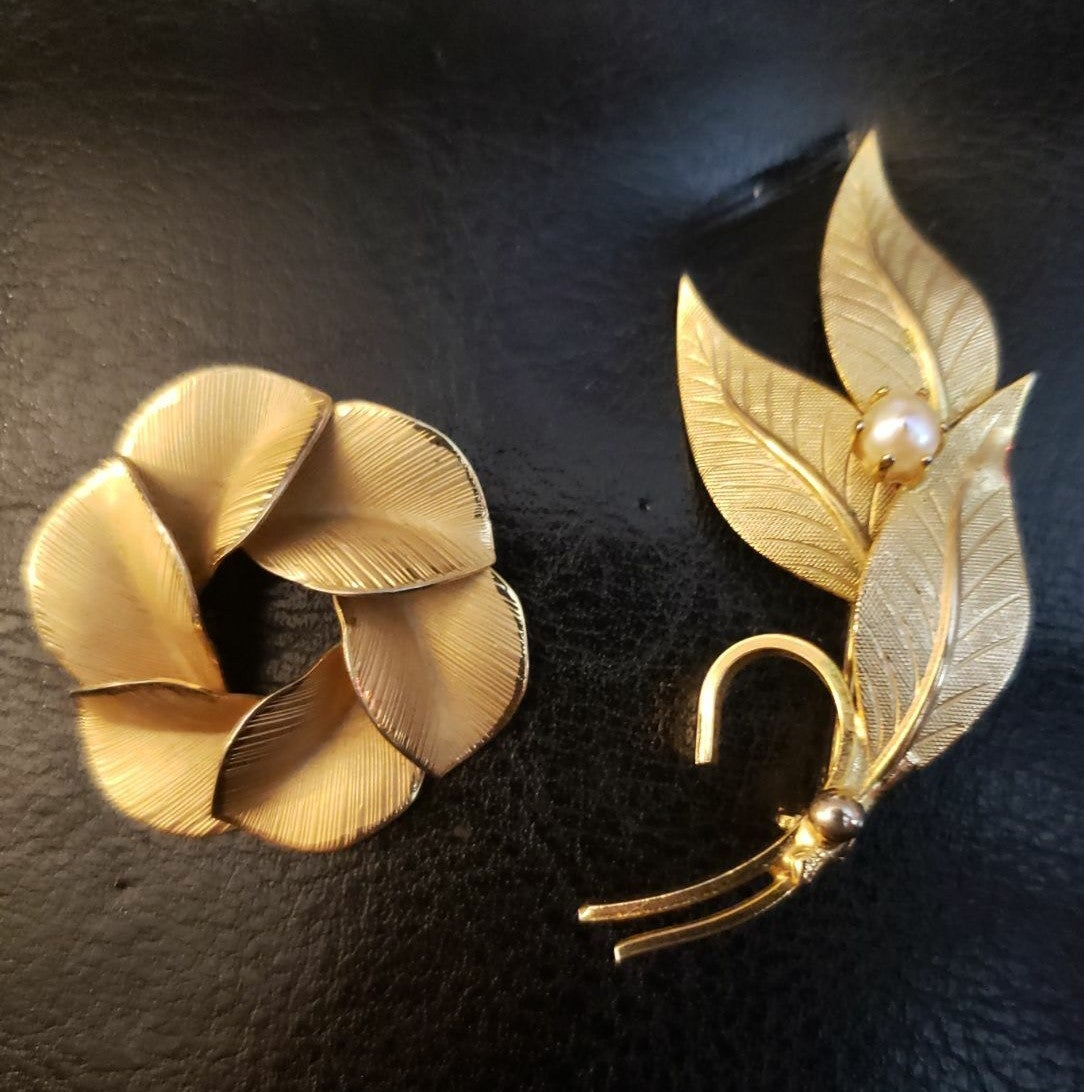 Pair of Vintage Gold 20-12k GF Brooch
