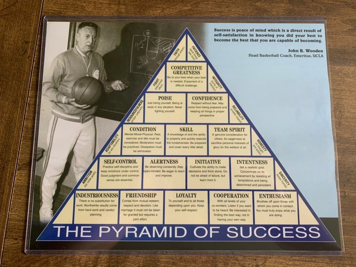 J Wooden Pyramid for Success 11x14 photo