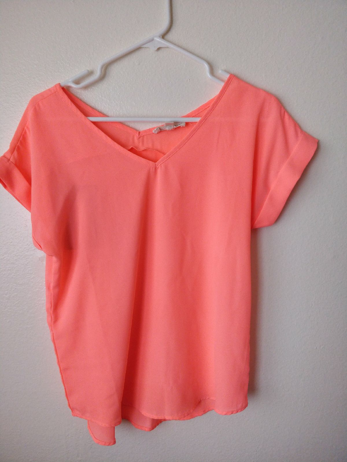Neon pink blouse Top