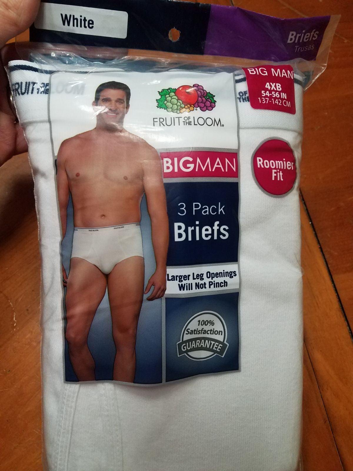 Fruit of the loom BigMan Briefs 4XB