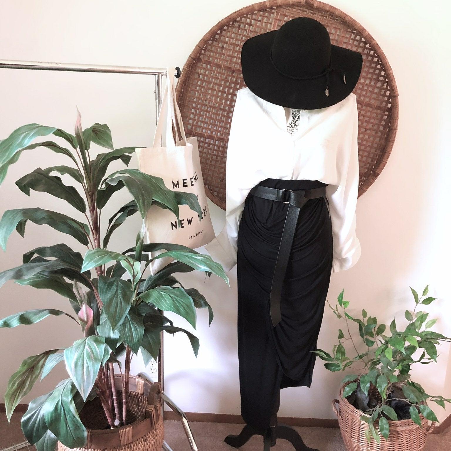 Black Midi Skirt. ana. Size Small/ Tall.