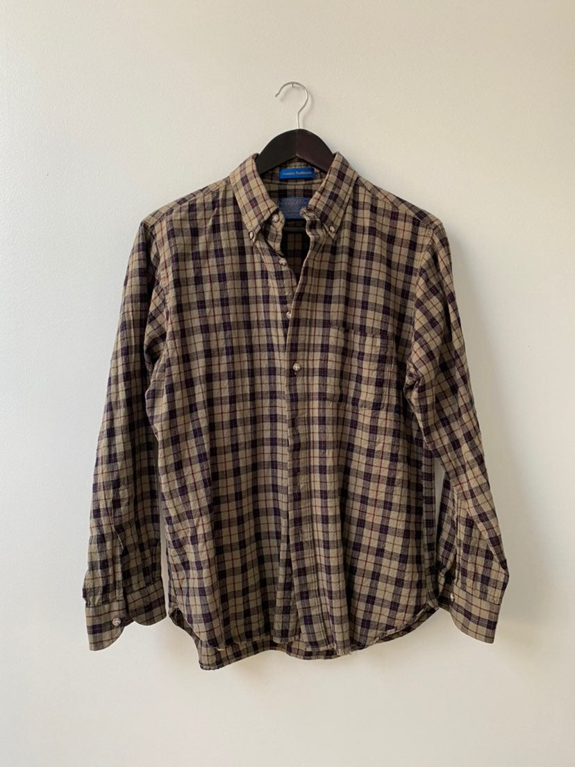Pendleton Wool Plaid Long Sleeve Shirt