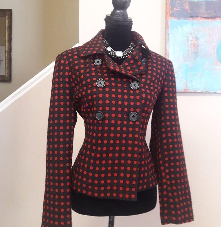 Vintage Briggs New York Polka Dot Jacket