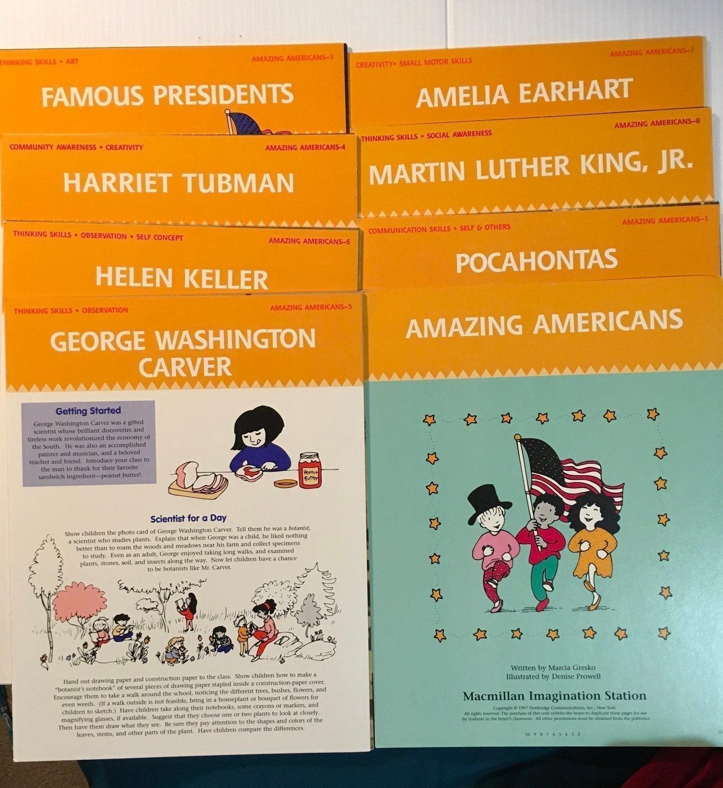 Famous Americans Unit Study Photo gcards