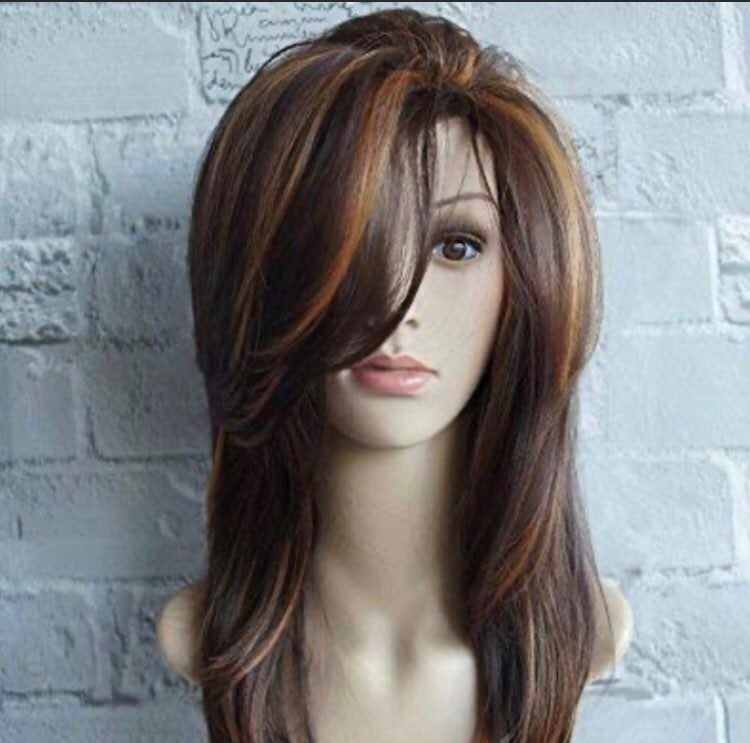 Wig with Dark Roots