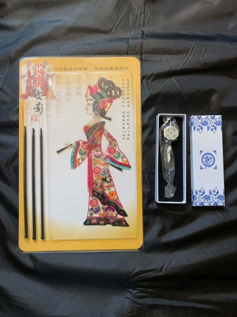 Chinese Shadow Puppet & Bookmark Giftset