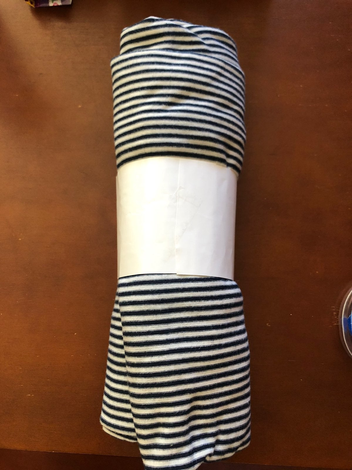 NEW Navy blue and white Fabric TWO YARDS