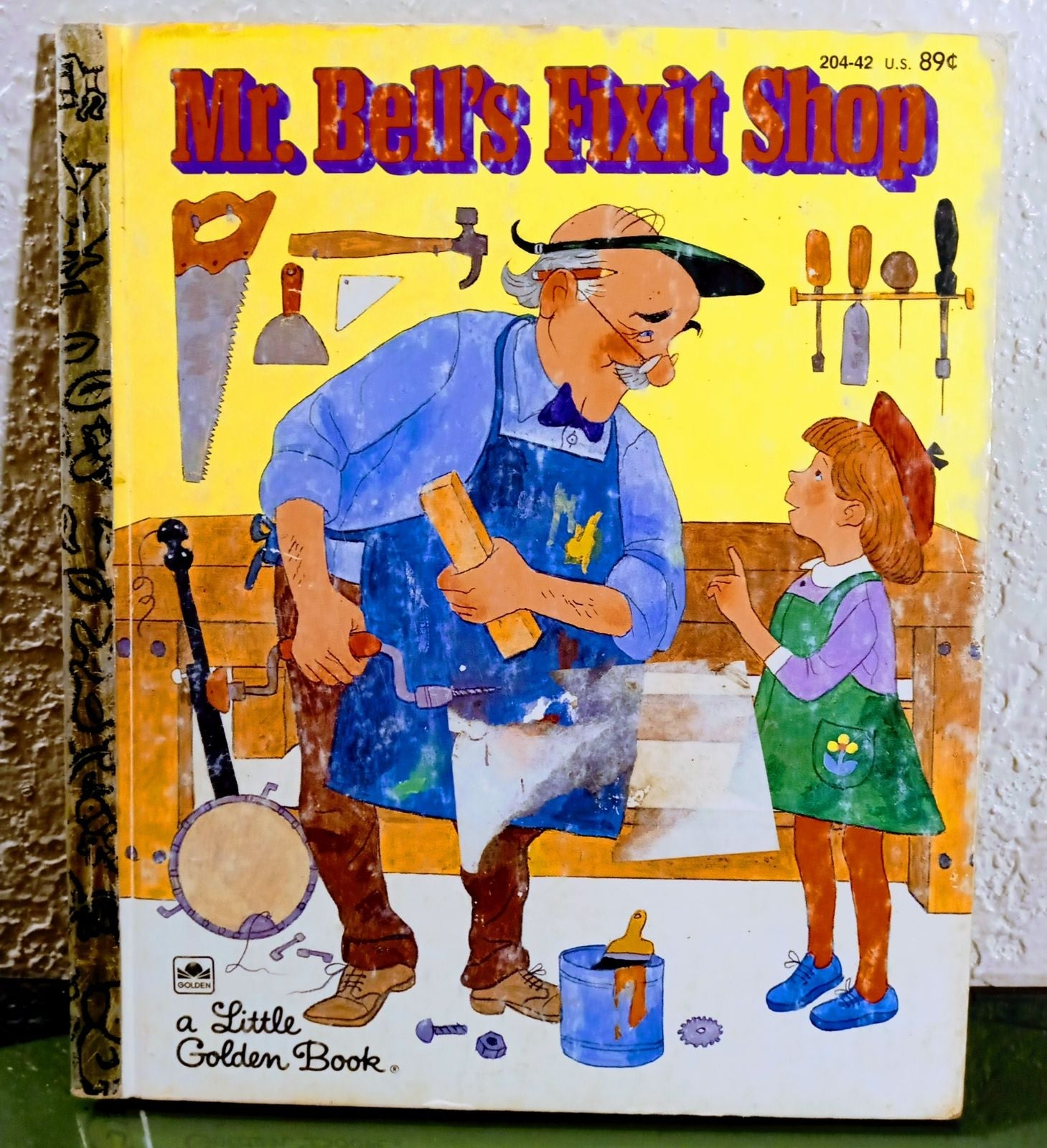 MR. BELL'S FIXIT SHOP LITTLE GOLDEN Book