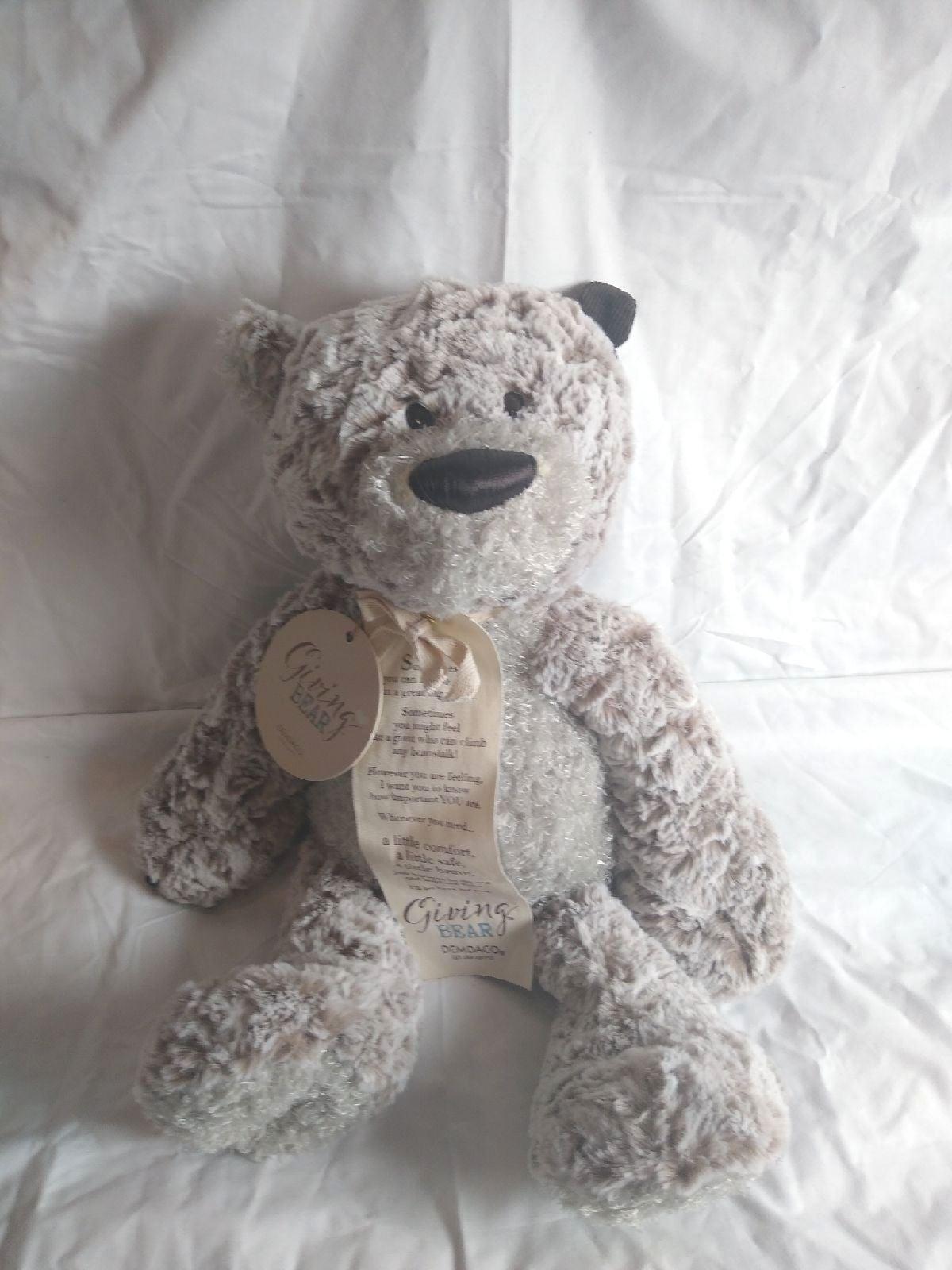 Demdaco Giving Bear Plush with tag