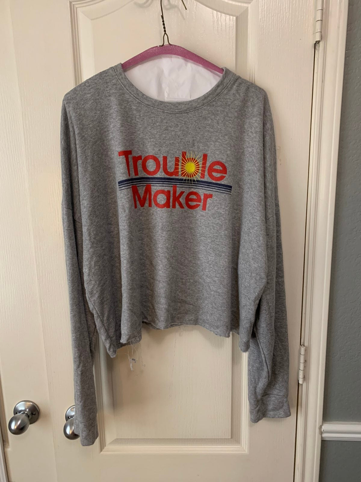 Trouble maker criop top