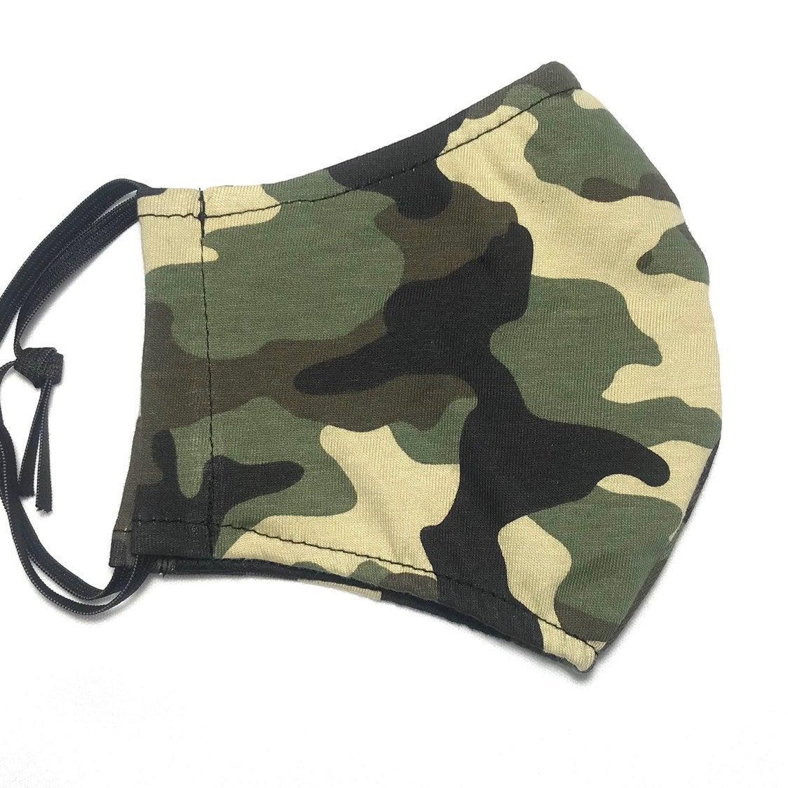 2pcs set Camouflage reusable face mask